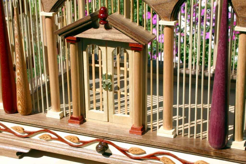 Woodworking plan for a large, functional bird cage