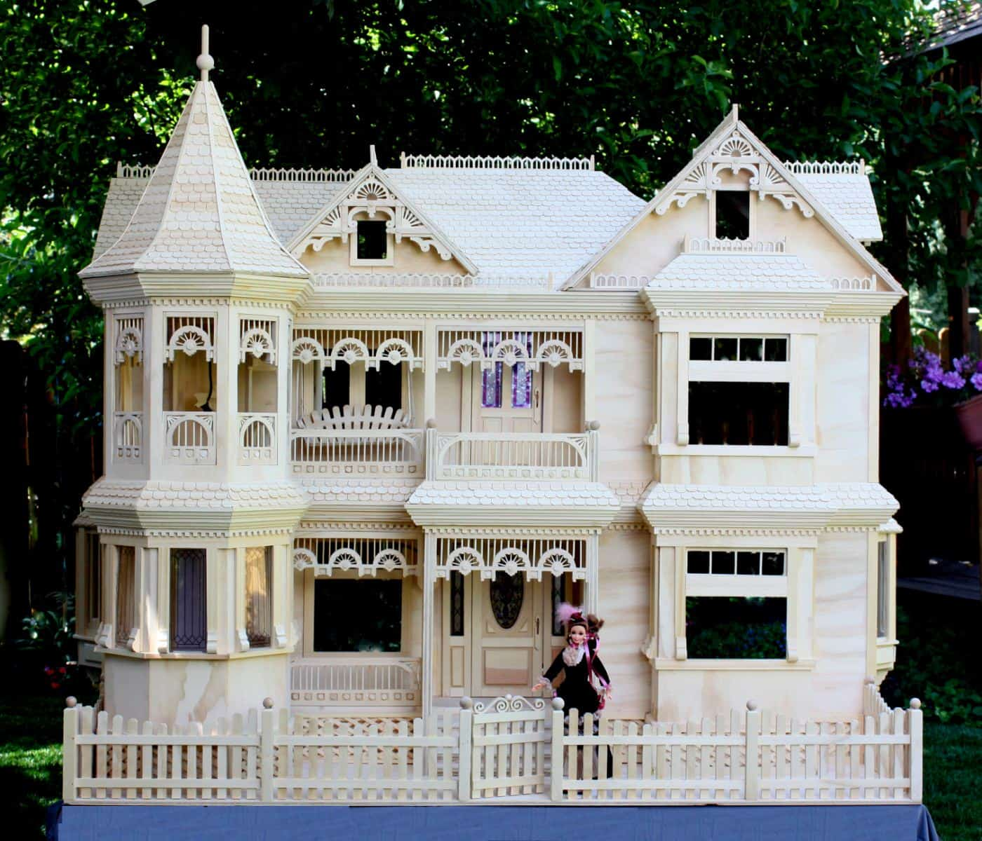 Victorian barbie r house woodworking plan forest street for Building plans houses