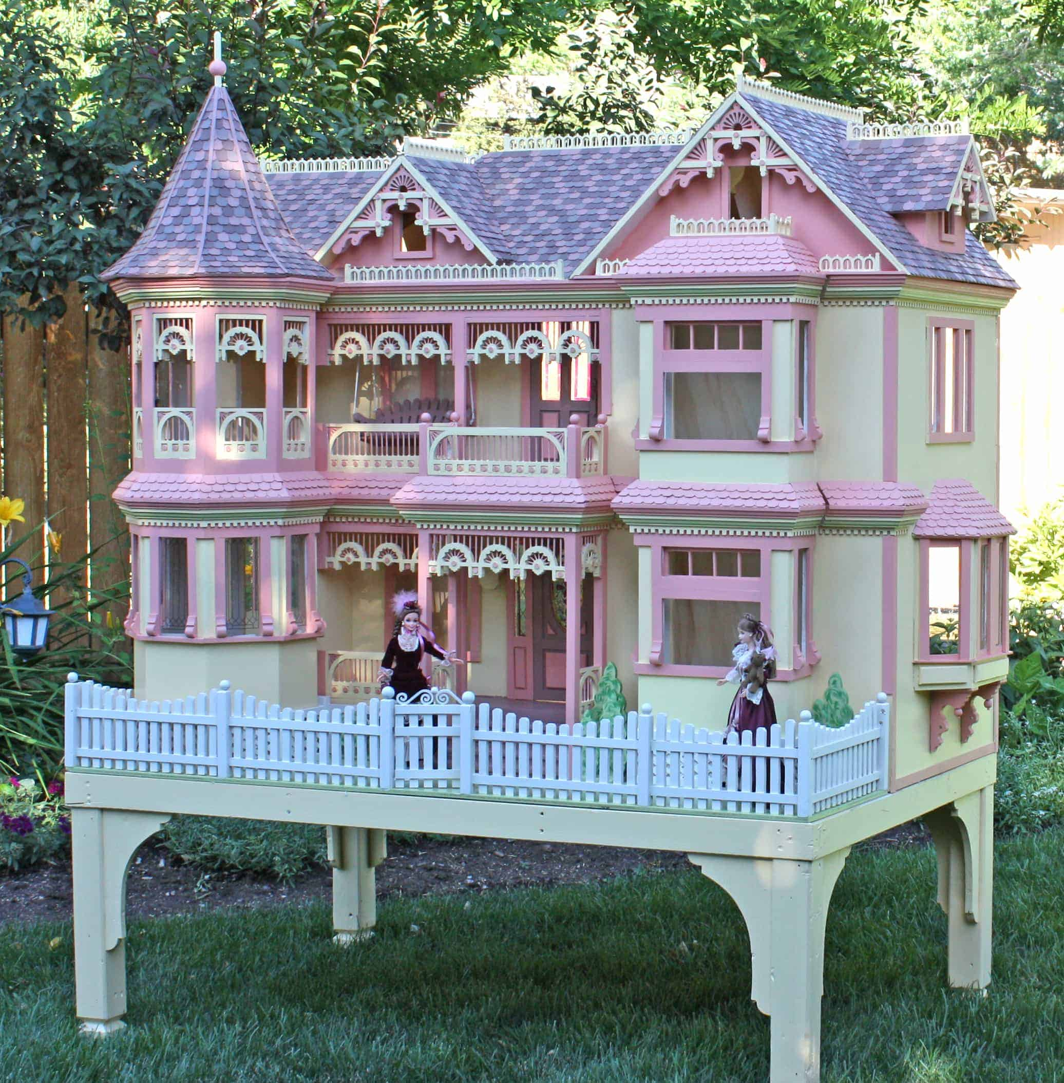 Barbie size dollhouse plans for Victorian playhouse plans