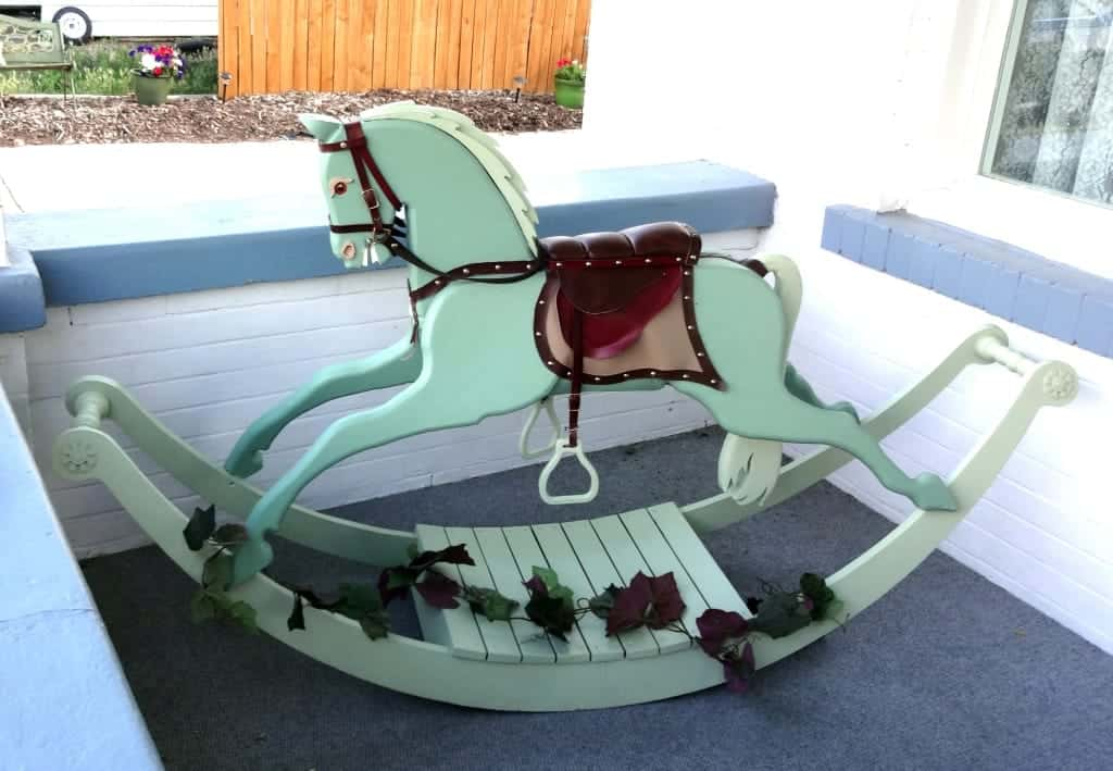 Victorian Rocking Horse from wood plans. Has the option of building using real horse hair for the mane and tail