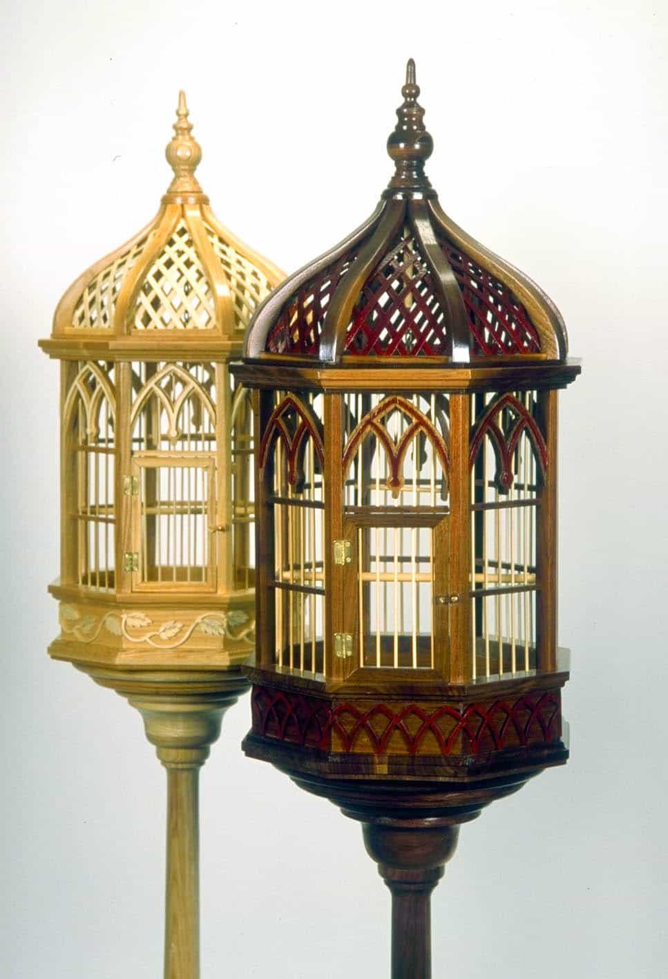 Victorian Pedestal Birdcage Woodworking Plan Forest
