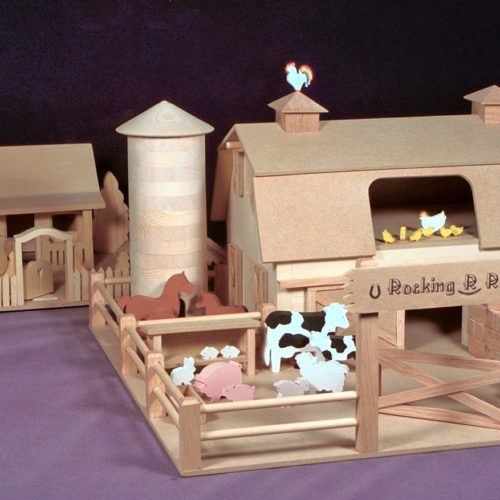 Barn, silo, cows, pigs, chickens, horses, tractor and grandmother' house