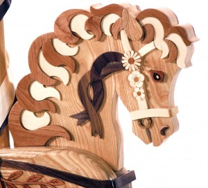 Woodworking plan with patterns for building the Wildflower Rocking Horse