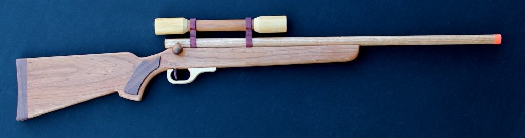 Rifle and scope from a woodworkilng plan set