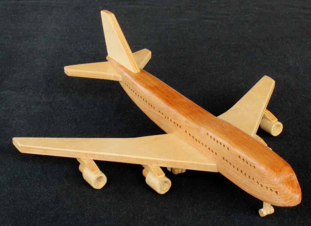 Wood working plan for a 747 from a large plan set