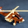 Apache helicopter from a woodworking plan set