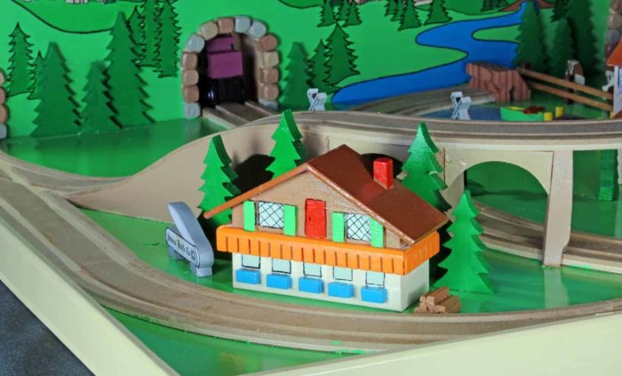 Swiss scene with trestle from the Alpine Train playset