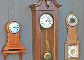 Beautiful clocks from woodworking patterns