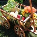 Garden Cart in Redwood and Cedar woodworking plan