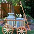 Garden Cart Woodworking project displayed with metal cans