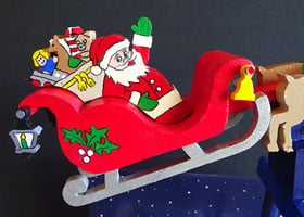 Santa in the Christmas Eve Balance Toy