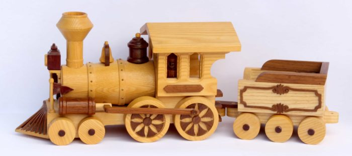 Engine and coal car woodworking plan Circus Train