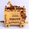 Giraffe car and monkey with a circus train car woodworking plan
