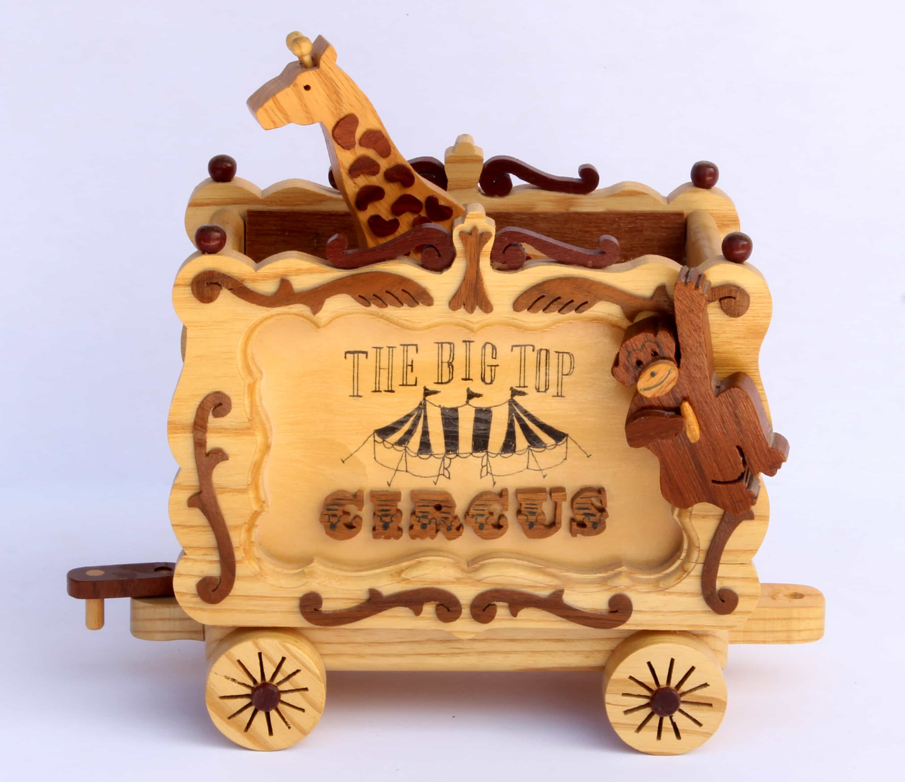 Circus Train Woodworking Plan Fun Whymsical Project For