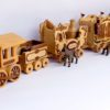 Full view of the Circus Train woodworking plan