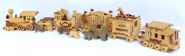Full size patterns for making a Circus Train in wood