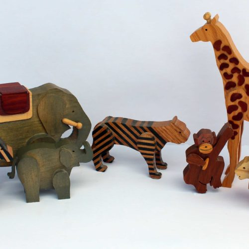 Animals that go with the Circus Train woodworking plan