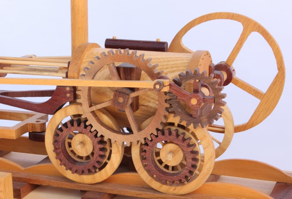Engine view First Trains woodworking plan
