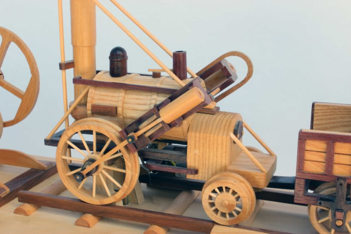 Engine in the First Trains woodworking plan