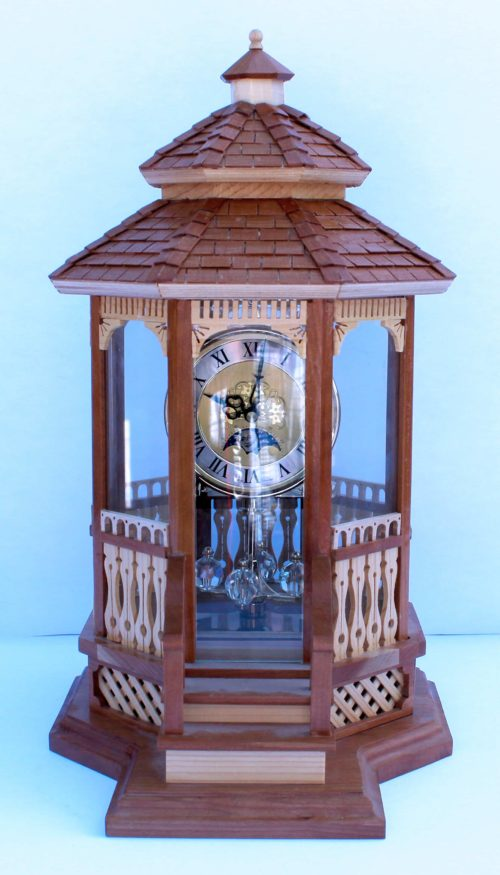 Gazebo Clock woodworkilng plan. Enclosed in glass