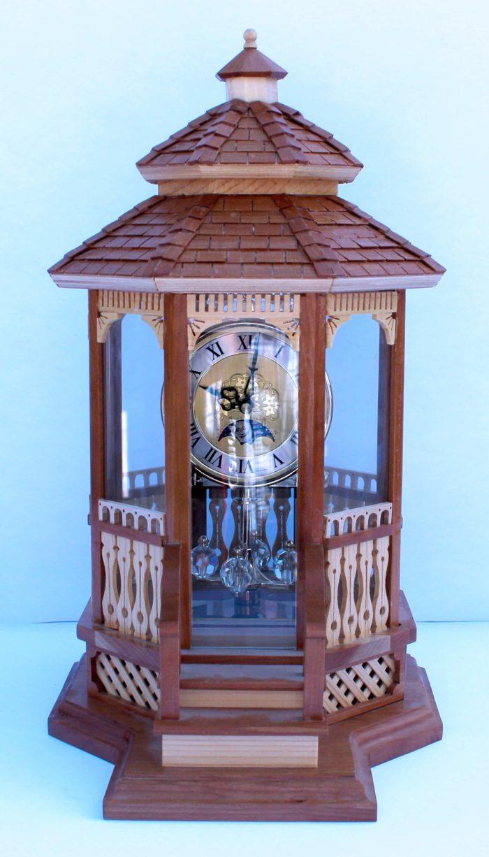 Gazebo Clock woodworkilng plan. Enclosed in glass
