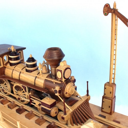 Woodworking plan for the Iron Horse Train with trestle