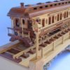 Woodworking plan coach car on the Iron Horse Train