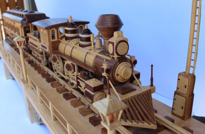 View of the Iron Horse Train woodworking plan