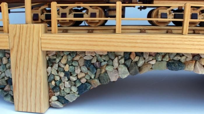 Iron Horse Train woodworking plan rockwork detail