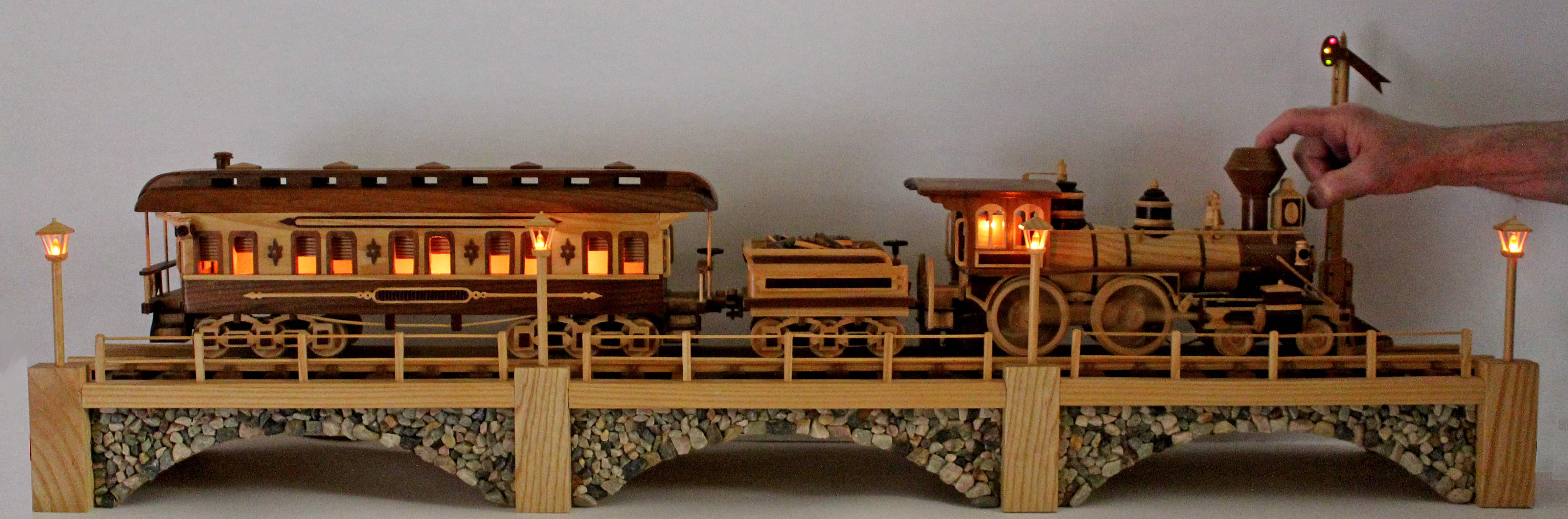Iron Horse Train With Three Cars A Woodworking Plan From