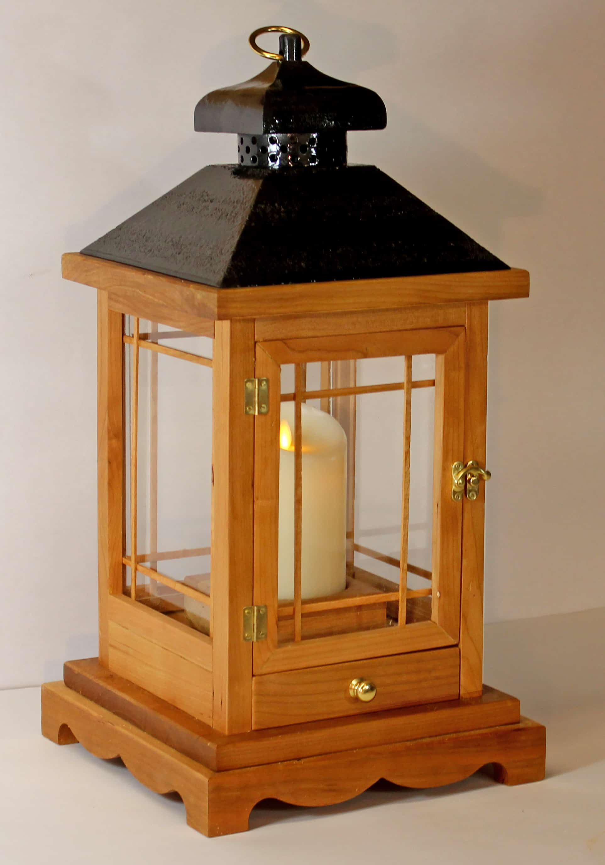 A Woodworking Plan For Building A Wood Lantern For Flameless Candles