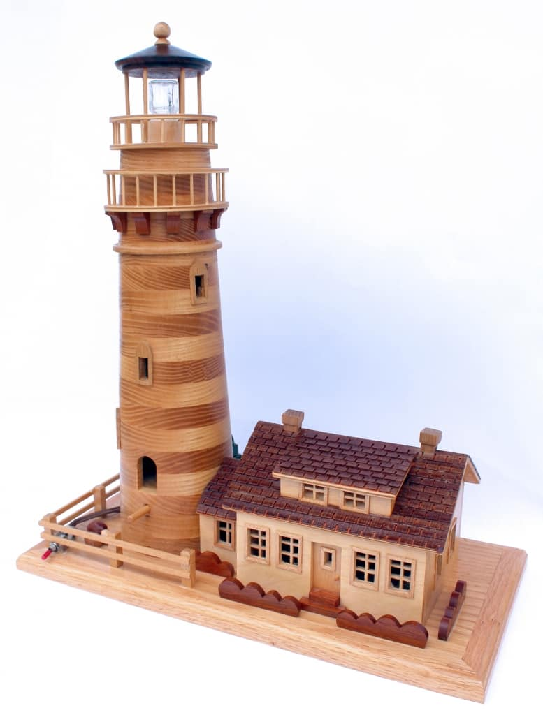 Woodworking plan for a lighthouse