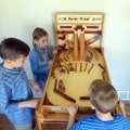 Youngsters playing the popular Marble Pinball Machine