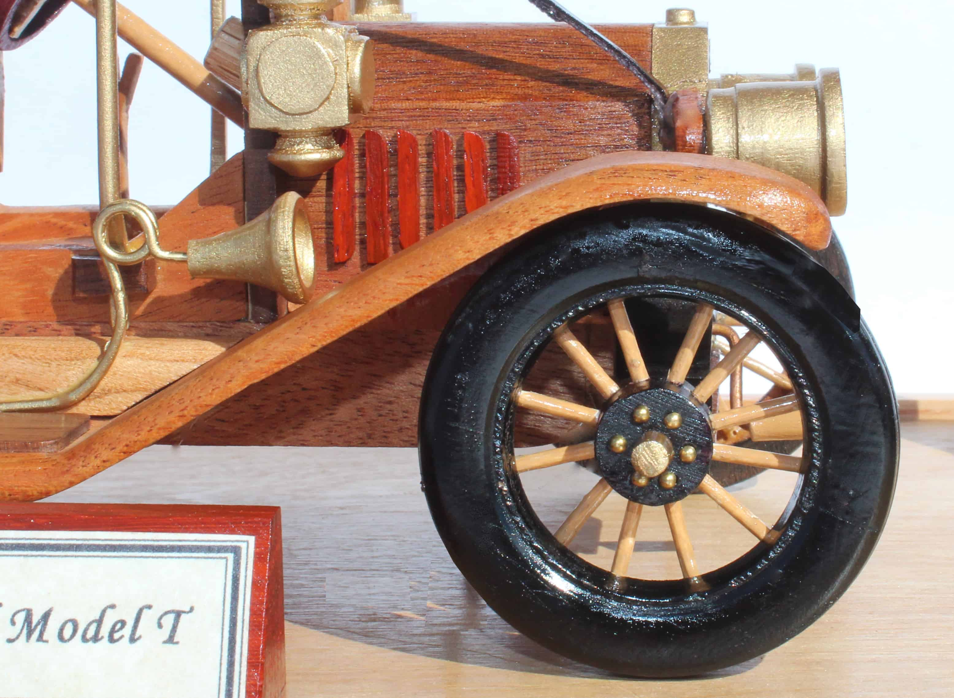A woodworking plan for building the classic 1910 Ford Model T