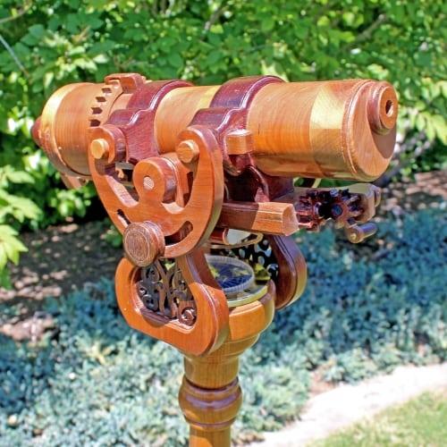 Woodworking plan showing top of the Pedestal Kaleidoscope