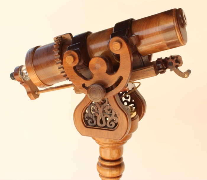 View of the top of the Pedestal Kaleidoscope woodworking plan