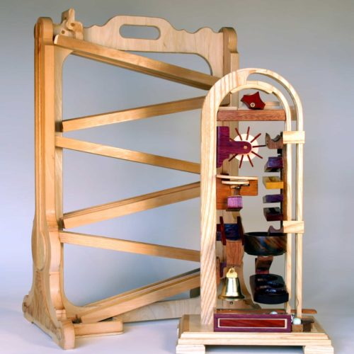 A basic marble raceway and a compact marble device woodworking plan