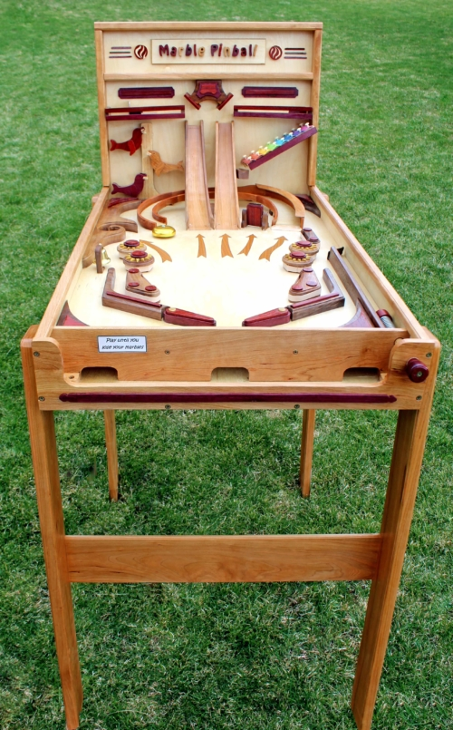 Pinball game woodworking plan full view
